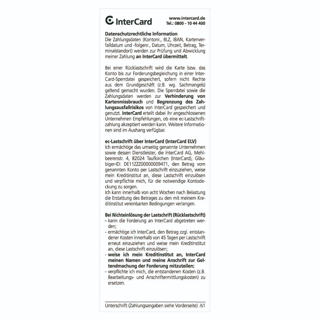 Thermorollen 57x10x12 - Intercard Lastschrifttext