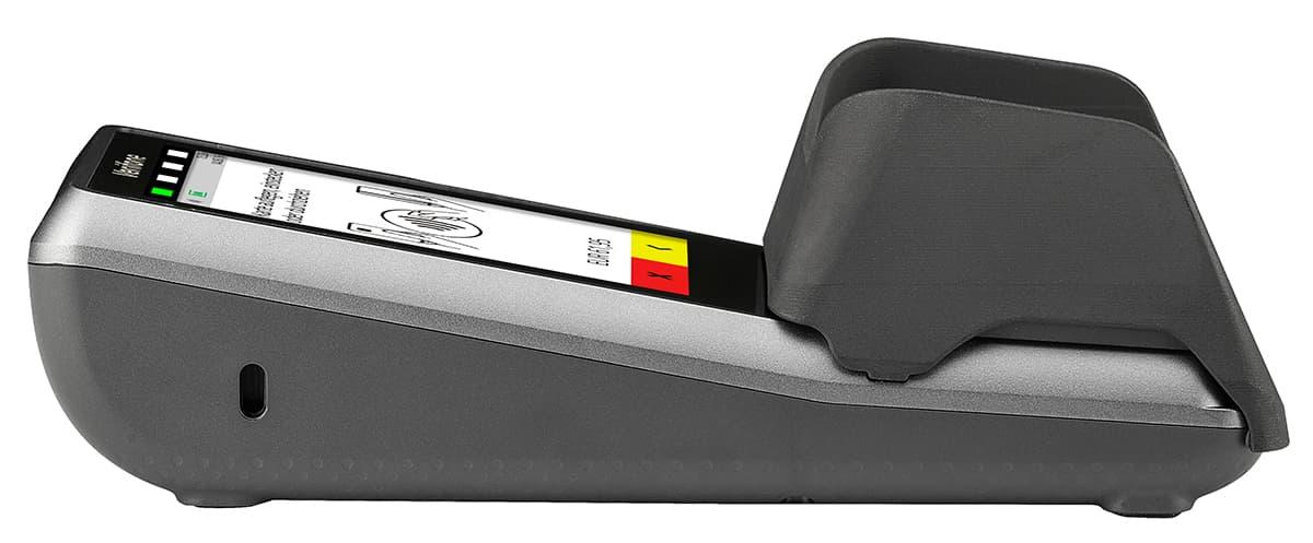 Verifone P400 mit Sichtschutz - Profilansicht