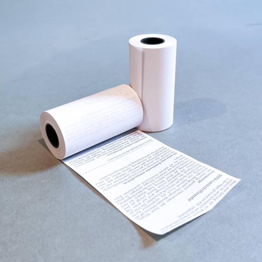 Thermorollen 57x10x12 mit SEPA Lastschrifttext